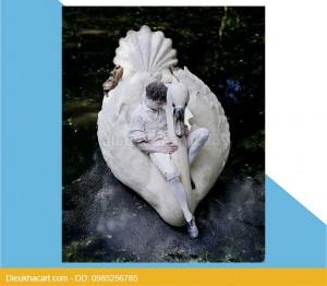 Mô hình xốp mút 3d chim thiên nga trang trí đạo cụ chụp ảnh