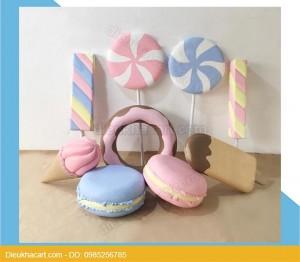 Bộ sản phẩm mô hình xốp mút 3d bánh kẹo-điêu khắc art