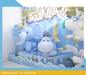 Mô hình xốp mút 3d động vật trang trí sinh nhật
