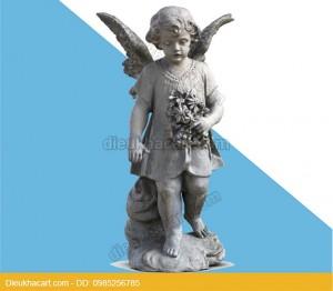 Tượng thiên thần bé nhỏ trang trí tiểu cảnh nội thất sân vườn