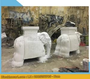 Tượng đôn voi trang trí sân vườn khách sạn-điêu khắc art