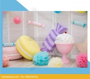 Mô hình xốp mút 3d tiệc bánh kẹo-bánh kem tại hà nội