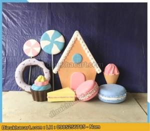 Mô hình bánh kẹo 3d làm bằng xốp mút - điêu khắc art