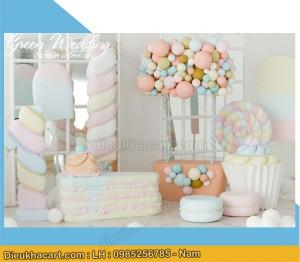Bộ mô hình chụp ảnh cho bé bánh kẹo bằng xốp mút 3d