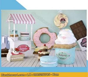 Bộ sản phẩm mô hình xốp mút bánh kẹo 3d