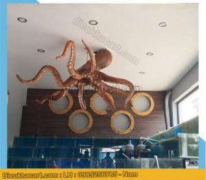 Mô hình xốp mút 3d bạnh tuộc trang trí nhà hàng