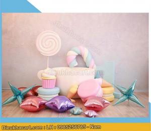 mô hình bánh kẹo sinh nhật bằng xốp mút 3d