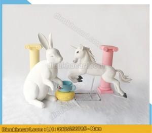 Mô hình 3d động vật ngựa thỏ bằng xốp mút trang trí sự kiện