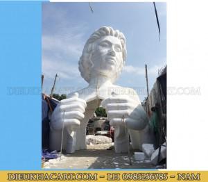 Mô hình xốp mút 3d tượng cô gái cao 6m