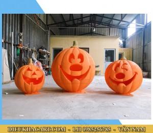Mô hình bí ngô bằng xốp mút 3d trang trí halloween
