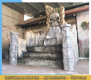 Ghế mô hình quyền lực bằng xốp mút 3d - điêu khắc art