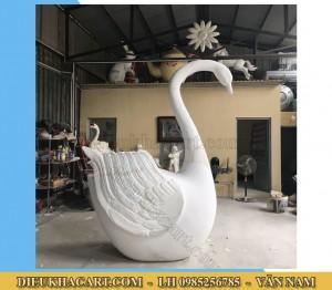 Mô hinh xốp mút 3d chim thiên nga-điêu khắc art
