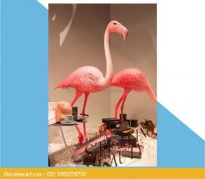 Mô hình xốp mút 3d chim hồng hạc trang trí