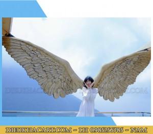 Mô hình cánh thiên thần chất liệu nhựa compusite-xốp mút