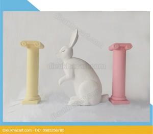 Mô hình mút xốp 3d thỏ trắng trang trí - tại hà nội